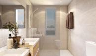 green golf moderne geschakelde huizen townhouses estepona eerstelijns golf te koop badkamer