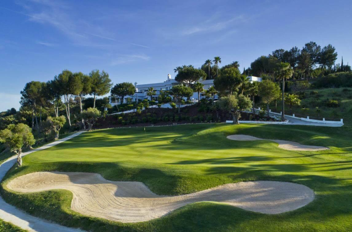 green golf moderne geschakelde huizen townhouses estepona eerstelijns golf te koop green
