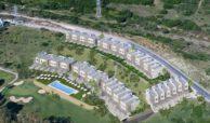 green golf moderne geschakelde huizen townhouses estepona eerstelijns golf te koop masterplan