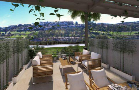 Green Golf: geschakelde woningen aan de golf met zeezicht (Estepona)