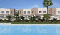 green golf moderne geschakelde huizen townhouses estepona eerstelijns golf te koop zwembad