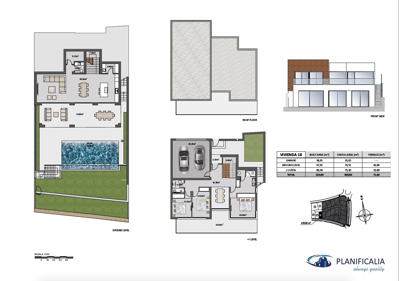 la cala views mijas costa villa modern nieuwbouw kopen zeezicht grondplan villa18