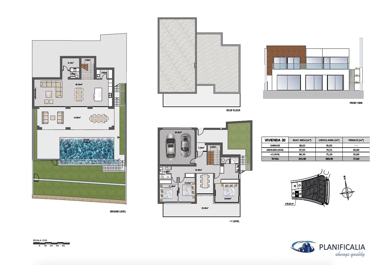 la cala views mijas costa villa modern nieuwbouw kopen zeezicht grondplan villa20