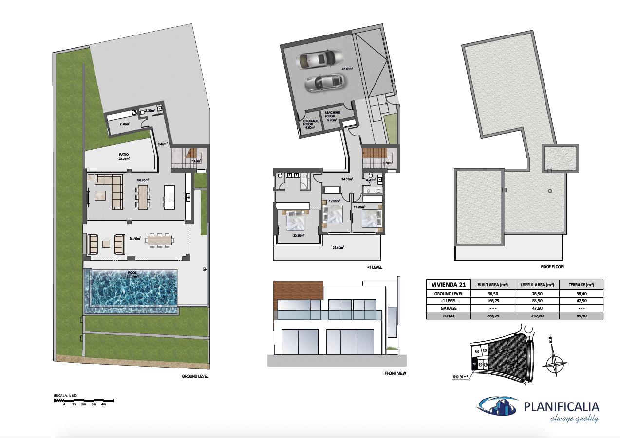 la cala views mijas costa villa modern nieuwbouw kopen zeezicht grondplan villa21