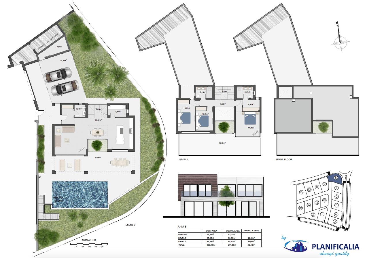 la cala views mijas costa villa modern nieuwbouw kopen zeezicht grondplan villa8