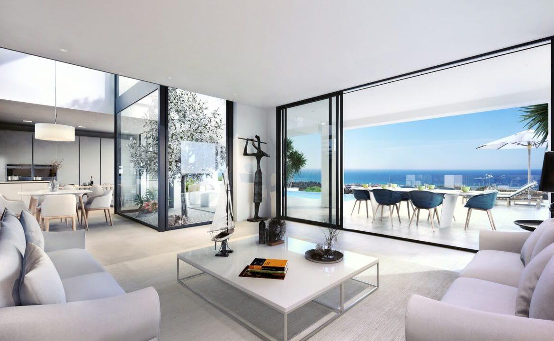 la cala views mijas costa villa modern nieuwbouw kopen zeezicht open plan