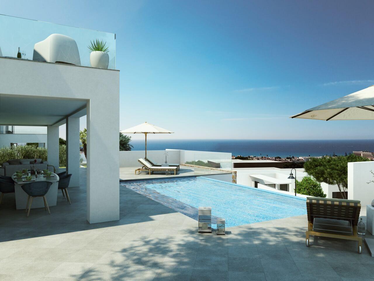 la cala views mijas costa villa modern nieuwbouw kopen zeezicht