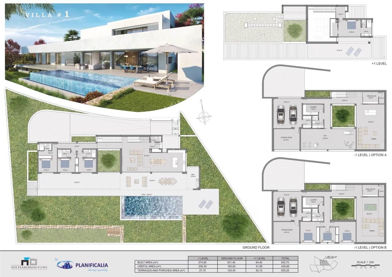 los flamingos views villa padierna benahavis villa luxe modern nieuwbouw te koop zeezicht grondplan villa1