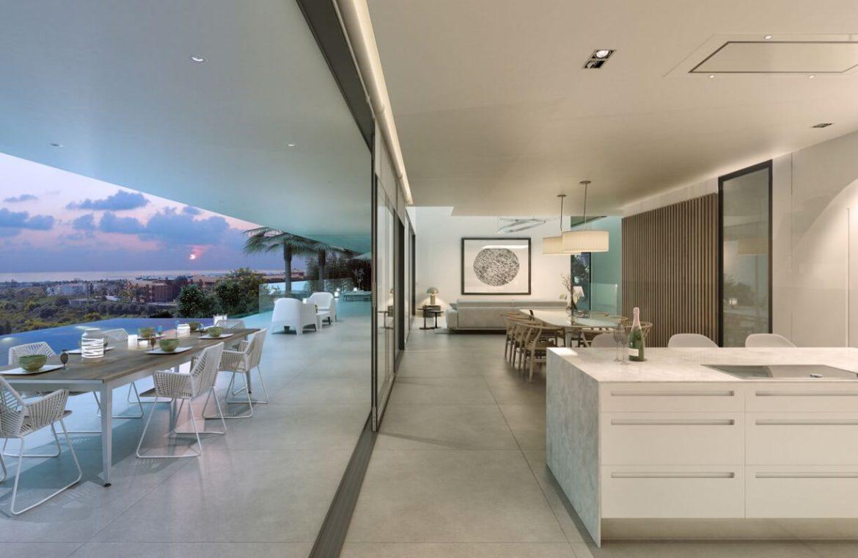 los flamingos views villa padierna benahavis villa luxe modern nieuwbouw te koop zeezicht villa1 open plan