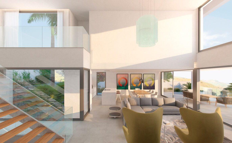 los flamingos views villa padierna benahavis villa luxe modern nieuwbouw te koop zeezicht villa2 open plan