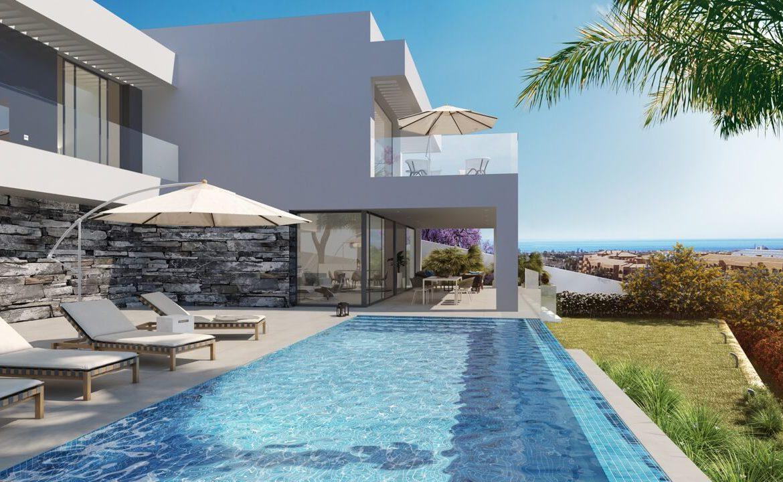los flamingos views villa padierna benahavis villa luxe modern nieuwbouw te koop zeezicht villa2 tuin