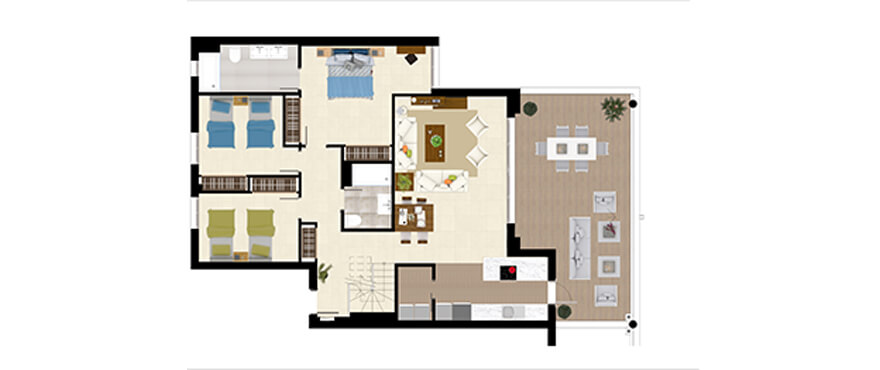 royal banus nueva andalucia taylor wimpey nieuwbouw te koop wandelafstand zee grondplan penthouse 3bed