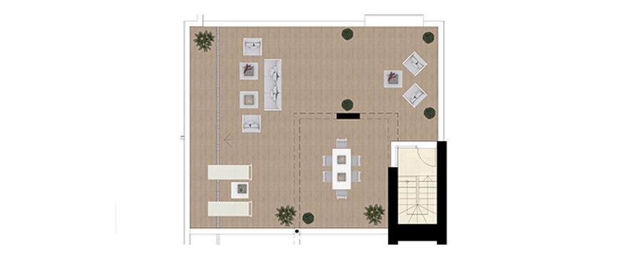 royal banus nueva andalucia taylor wimpey nieuwbouw te koop wandelafstand zee grondplan penthouse solarium