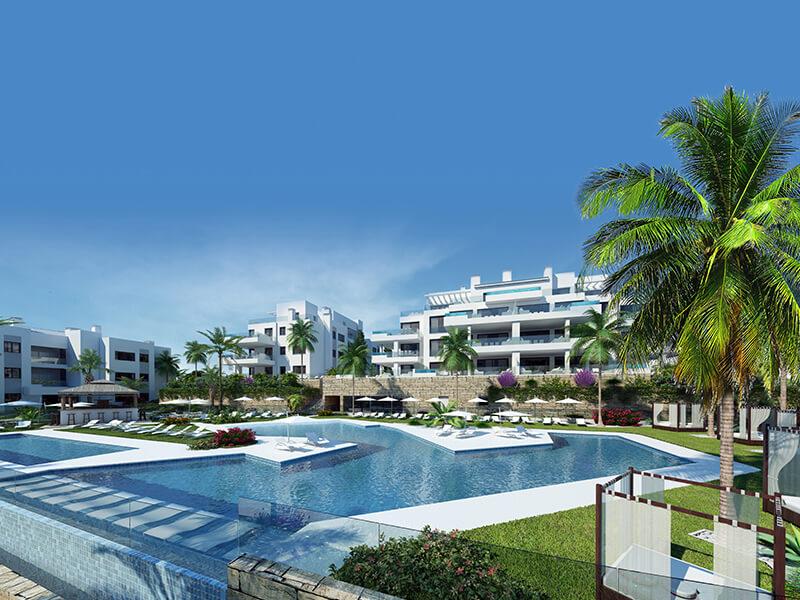 santa barbara heights mijas costa strand zeezicht resort concierge nieuwbouw te koop complex