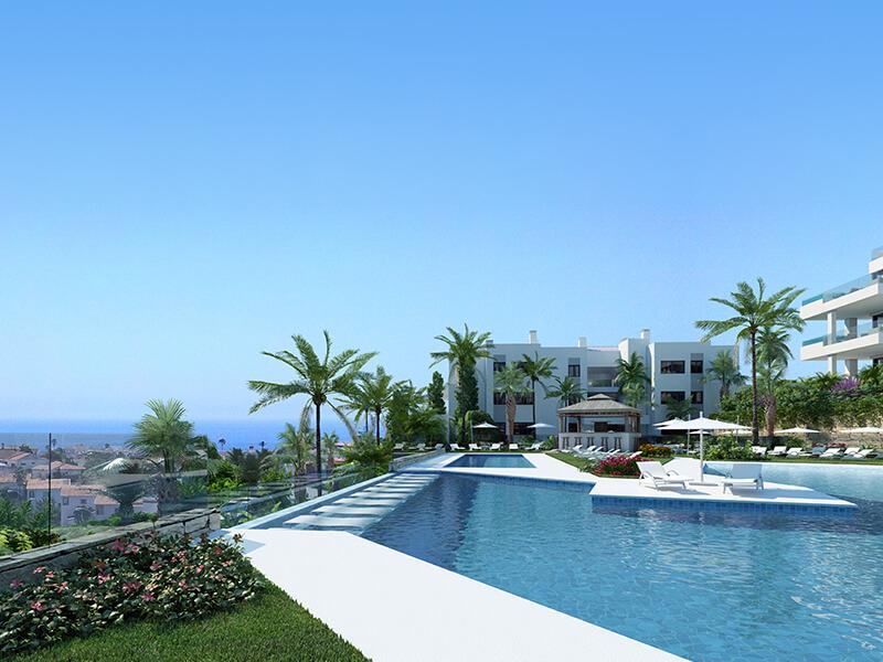 santa barbara heights mijas costa strand zeezicht resort concierge nieuwbouw te koop locatie