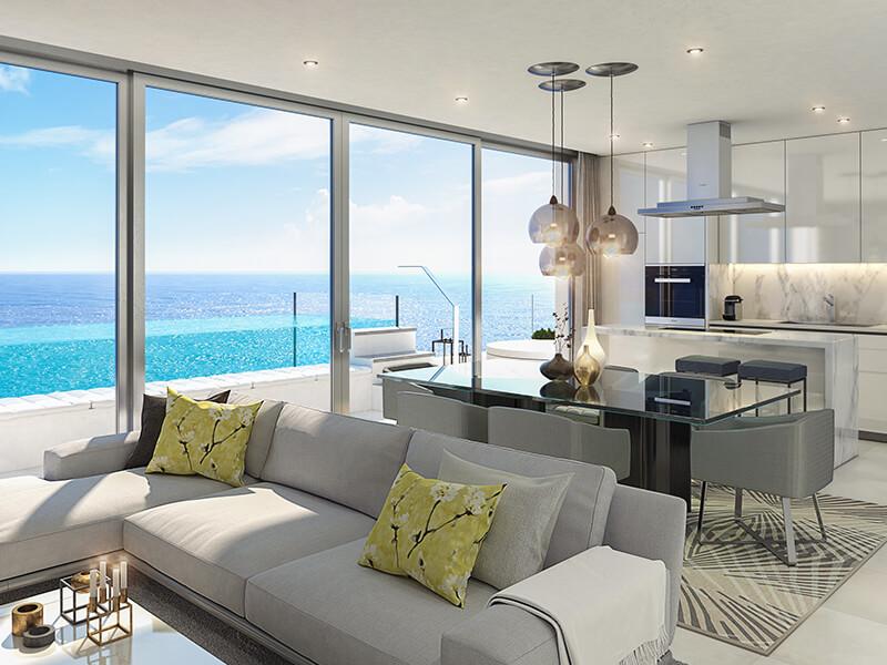 santa barbara heights mijas costa strand zeezicht resort concierge nieuwbouw te koop salon
