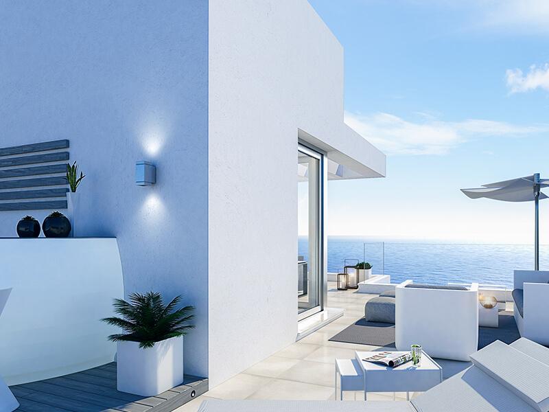 santa barbara heights mijas costa strand zeezicht resort concierge nieuwbouw te koop terras penthouse