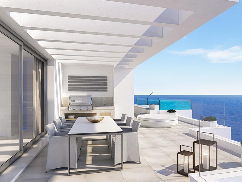 santa barbara heights mijas costa strand zeezicht resort concierge nieuwbouw te koop terras