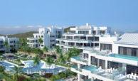 santa barbara heights mijas costa strand zeezicht resort concierge nieuwbouw te koop zwembaden