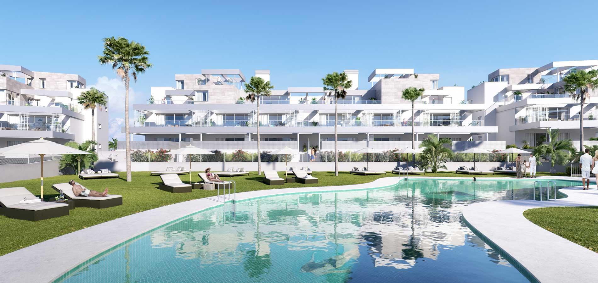 sense village golf cancelada nieuwbouw bankbeslag zee new golden mile zwembad