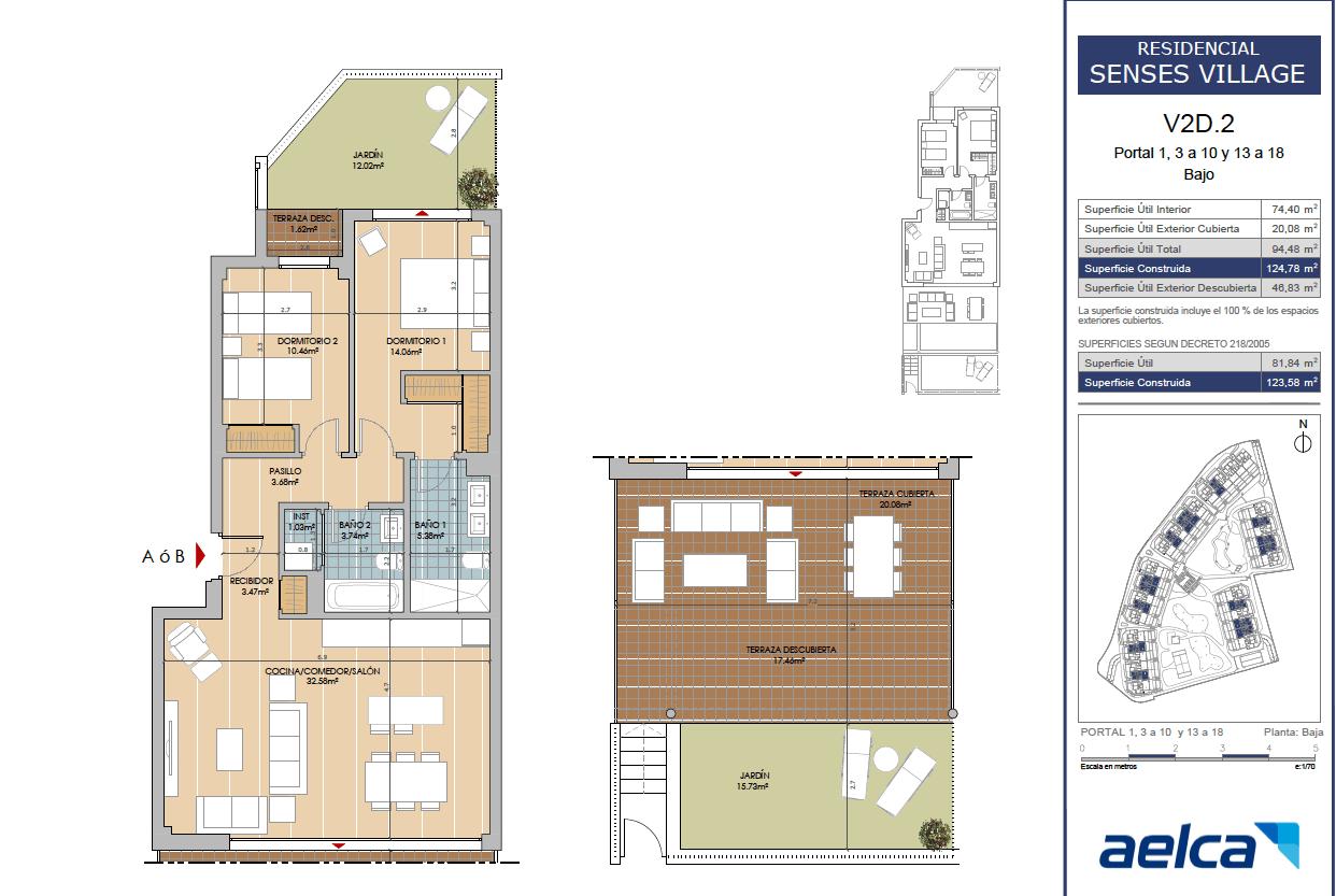 senses cancelada estepona marbella new golden mile off plan nieuwbouw kopen appartementen penthouses grondplan 2 slaapkamers gelijkvloers