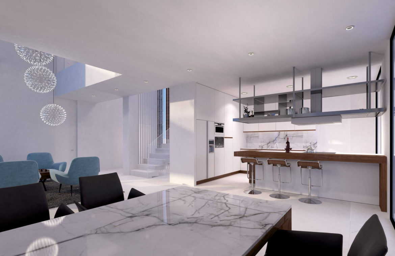 velvet cancelada villa te koop modern zeezicht nieuwbouw estepona new golden mile marbella open plan