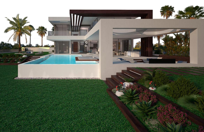 velvet cancelada villa te koop modern zeezicht nieuwbouw estepona new golden mile marbella prive tuin