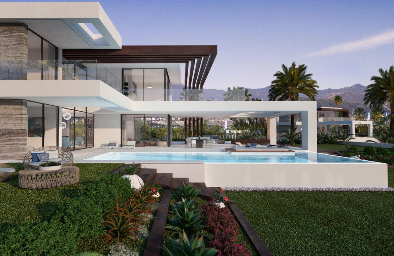 velvet cancelada villa te koop modern zeezicht nieuwbouw estepona new golden mile marbella tuin