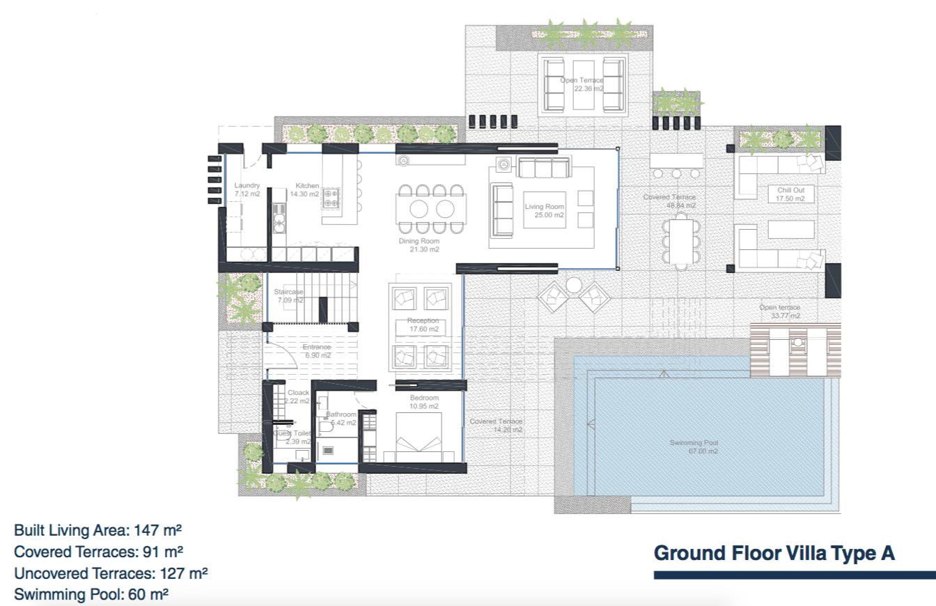 velvet villa te koop modern nieuwbouw cancelada estepona new golden mile marbella type a grondplan gelijkvloers