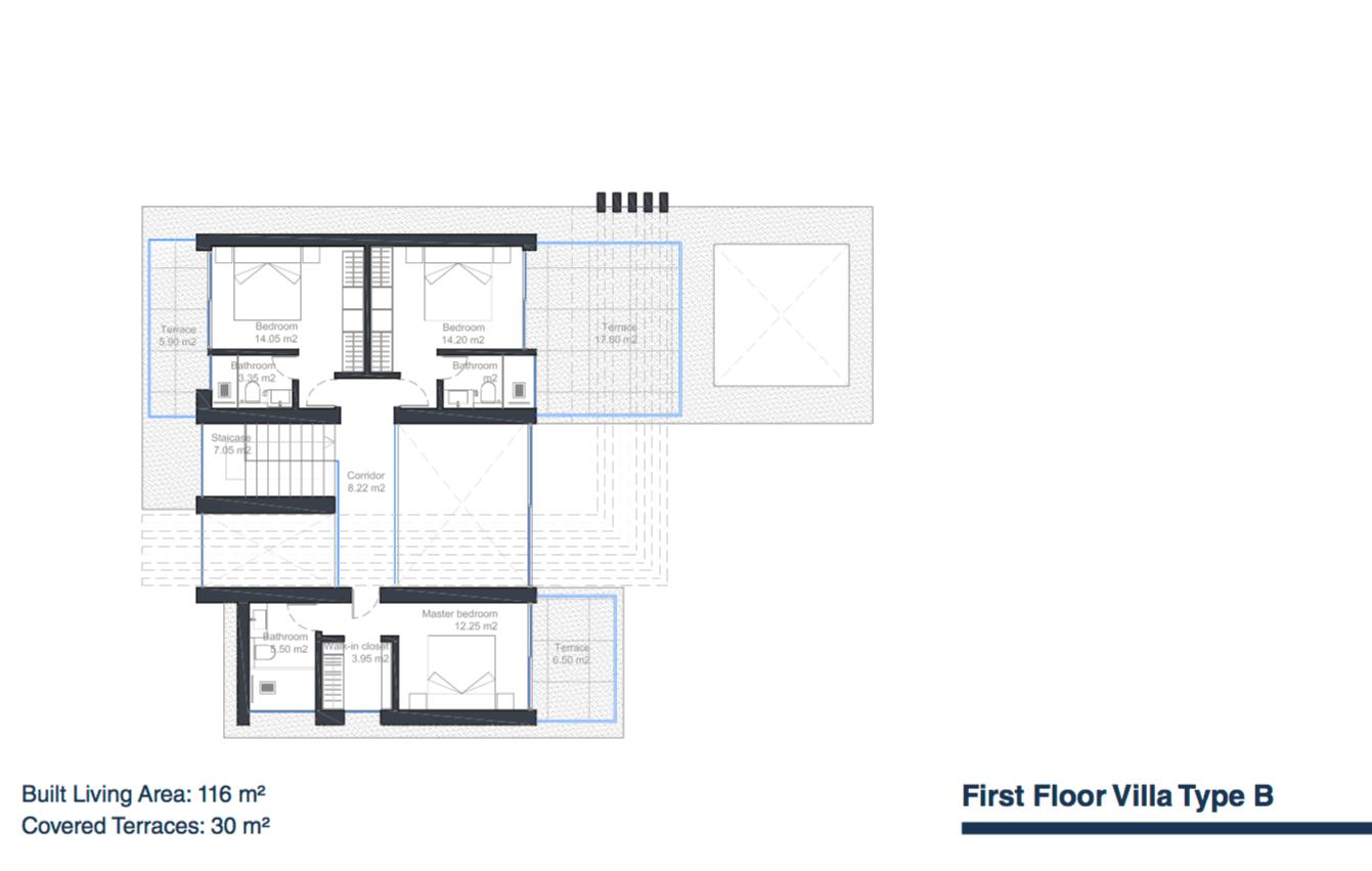 velvet villa te koop modern nieuwbouw cancelada estepona new golden mile marbella type b grondplan verdieping