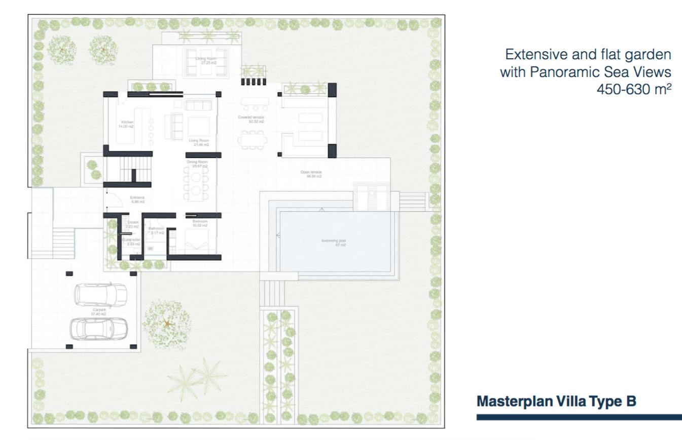 velvet villa te koop modern nieuwbouw cancelada estepona new golden mile marbella type b grondplan masterplan