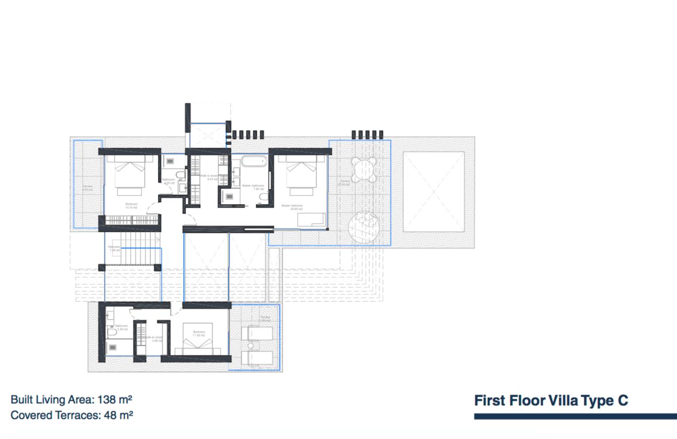 velvet villa te koop modern nieuwbouw cancelada estepona new golden mile marbella type c grondplan verdieping