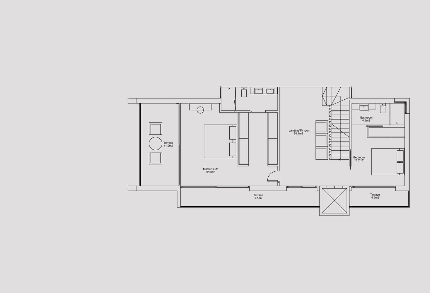 blue sky villas sky high villa riviera del sol nieuwbouw luxe te koop grondplan verdieping