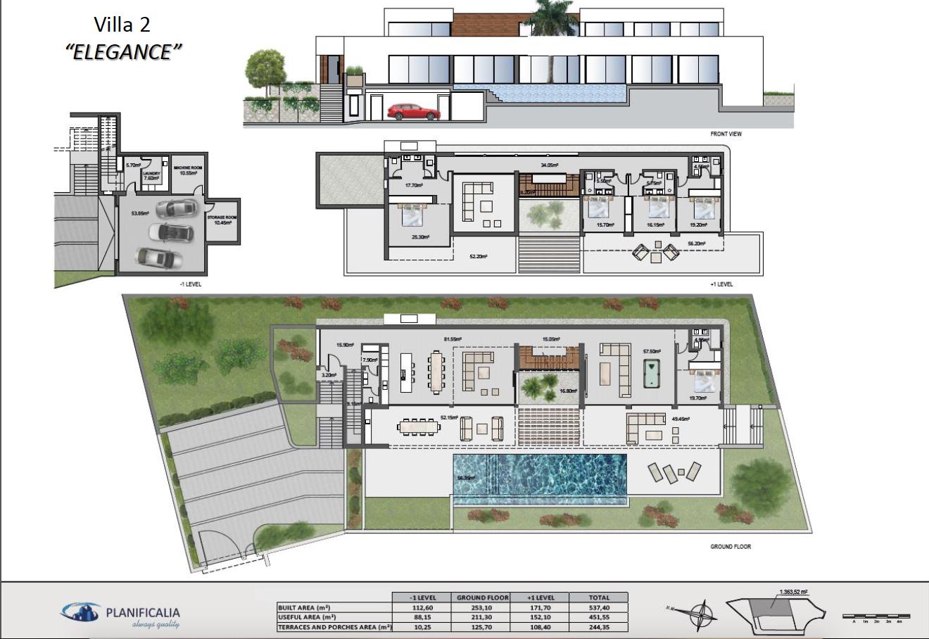 lux alcuzcuz benahavis la reserva moderne nieuwbouw villa te koop zeezicht privacy nieuw design zwembad elegance grondplan