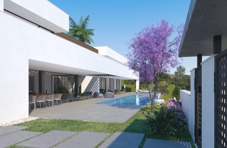 lux alcuzcuz benahavis la reserva moderne nieuwbouw villa te koop zeezicht privacy nieuw design zwembad elegance tuin