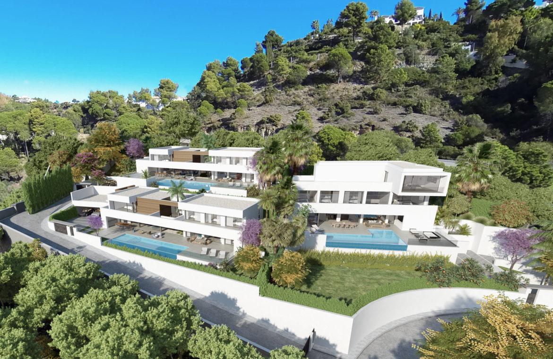 lux alcuzcuz benahavis la reserva moderne nieuwbouw villa te koop zeezicht privacy nieuw design zwembad inplanting