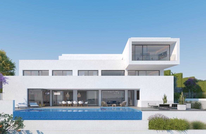 lux alcuzcuz benahavis la reserva moderne nieuwbouw villa te koop zeezicht privacy nieuw design zwembad sensations ontwerp