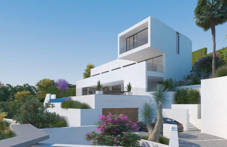 lux alcuzcuz benahavis la reserva moderne nieuwbouw villa te koop zeezicht privacy nieuw design zwembad sensations oprit