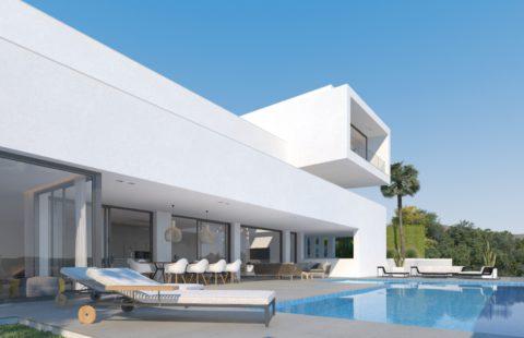 Lux Alcuzcuz: off-plan project met slechts 3 villa's met zeezicht (Benahavis)
