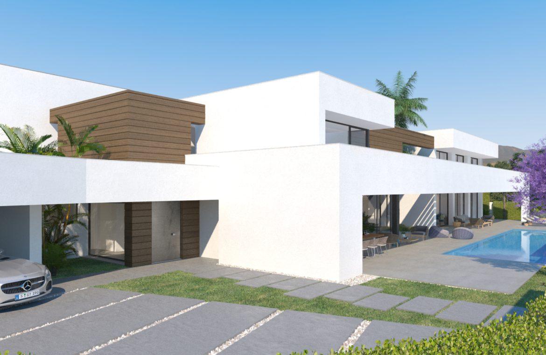 lux alcuzcuz benahavis la reserva moderne nieuwbouw villa te koop zeezicht privacy nieuw design zwembad serenity carport
