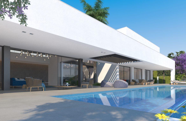 lux alcuzcuz benahavis la reserva moderne nieuwbouw villa te koop zeezicht privacy nieuw design zwembad serenity elegance prive infinity pool
