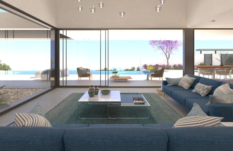 lux alcuzcuz benahavis la reserva moderne nieuwbouw villa te koop zeezicht privacy nieuw design zwembad serenity elegance salon