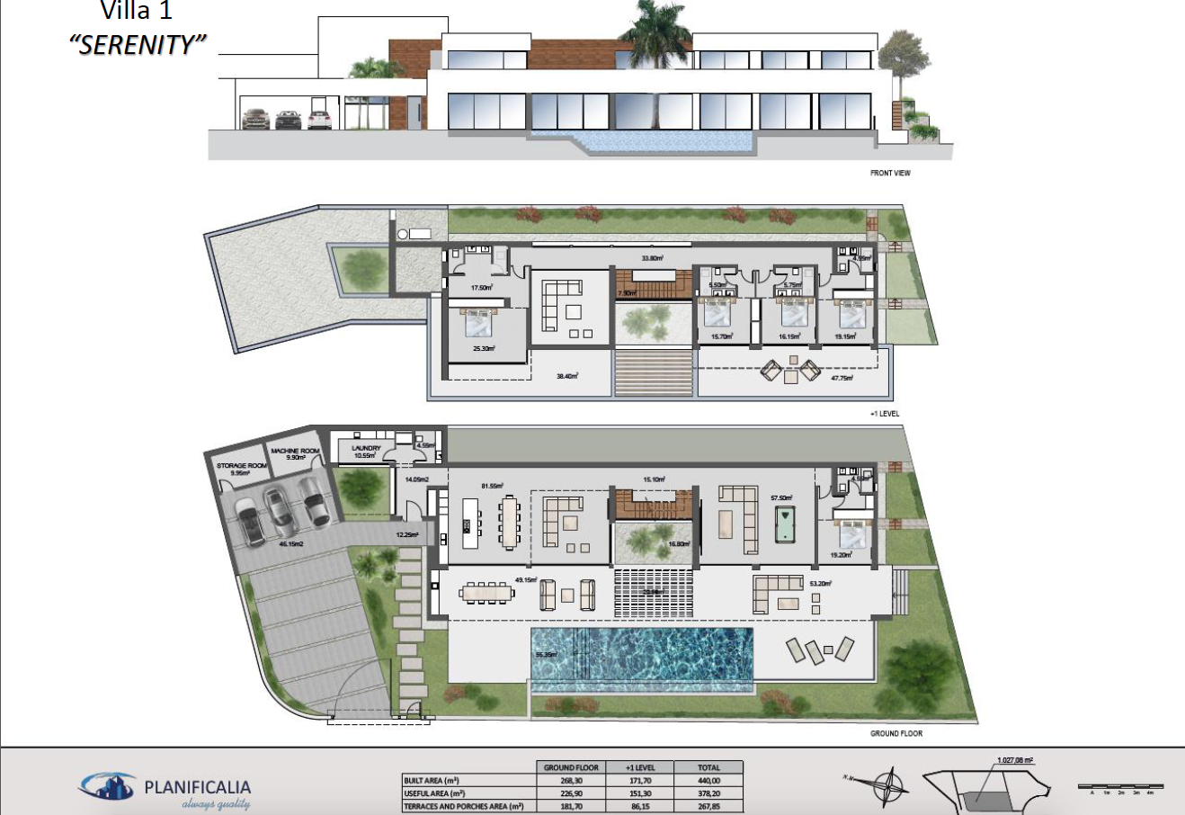 lux alcuzcuz benahavis la reserva moderne nieuwbouw villa te koop zeezicht privacy nieuw design zwembad serenity grondplan