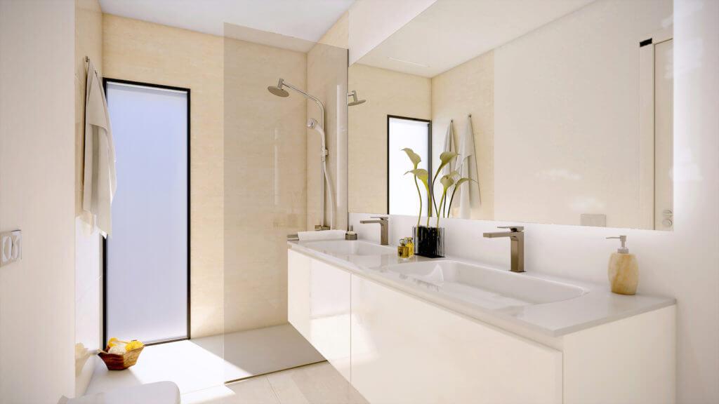 marein village nvoga geschakelde woning te koop townhouse nueva andalucia nieuwbouw puerto banus badkamer