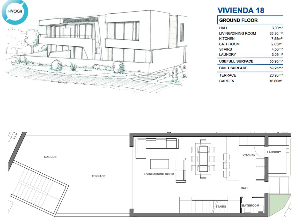 marein village nvoga geschakelde woning te koop townhouse nueva andalucia nieuwbouw puerto banus grondplan hoekhuis 18