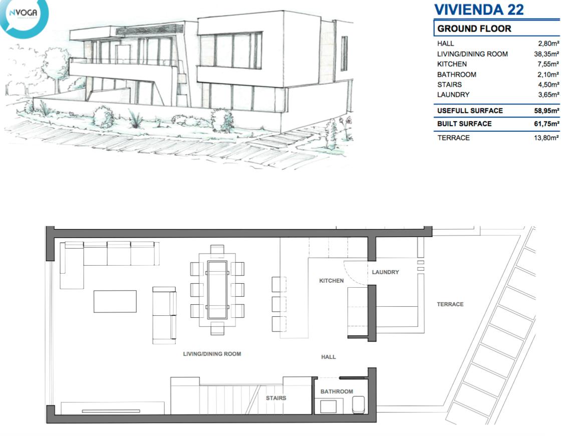 marein village nvoga geschakelde woning te koop townhouse nueva andalucia nieuwbouw puerto banus grondplan hoekhuis 22