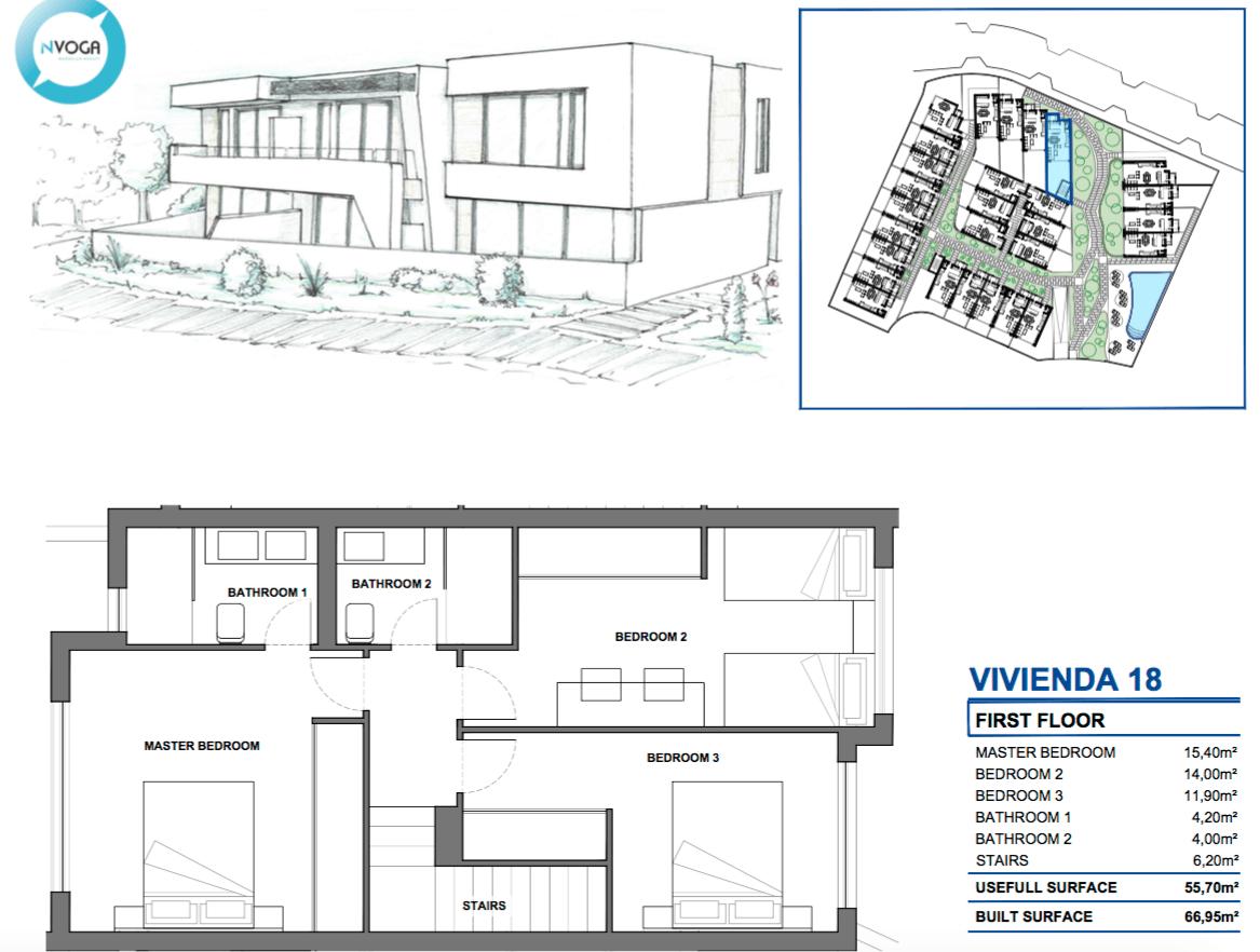 marein village nvoga geschakelde woning te koop townhouse nueva andalucia nieuwbouw puerto banus grondplan hoekhuis verdieping 18