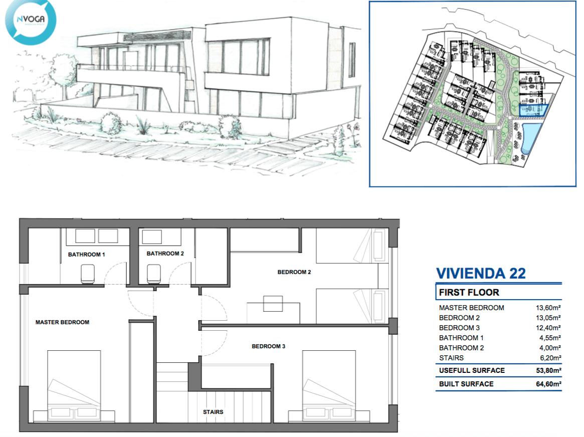 marein village nvoga geschakelde woning te koop townhouse nueva andalucia nieuwbouw puerto banus grondplan hoekhuis verdieping 22