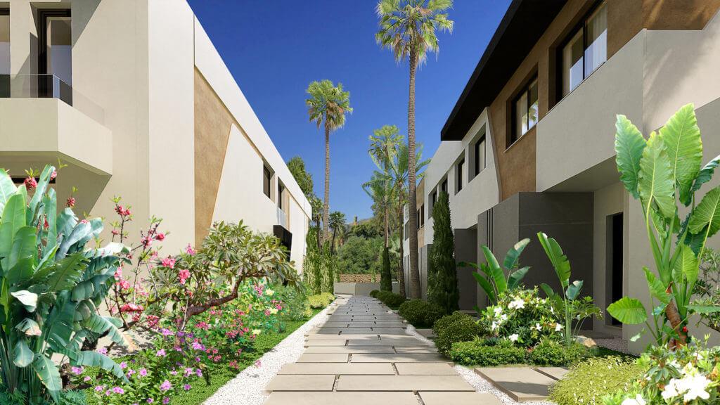 marein village nvoga geschakelde woning te koop townhouse nueva andalucia nieuwbouw puerto banus tuin