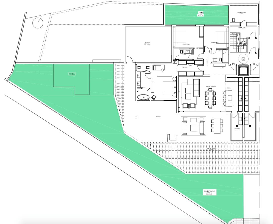 senorio de vasari marbella golden mile exclusief appartement penthouse kopen nieuwbouw modern design grondplan gelijkvloers a